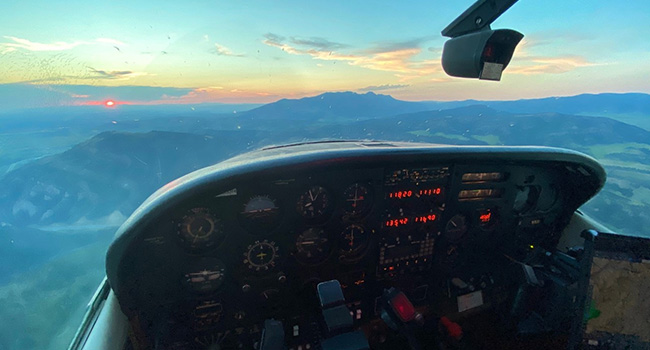 Sunrise View From Cockpit